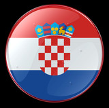 croatia flag button poster