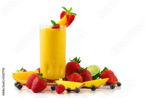 Leinwandbild Motiv mango smoothie