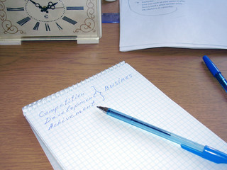 hours and notebook