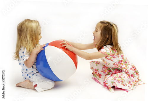 beach ball fight