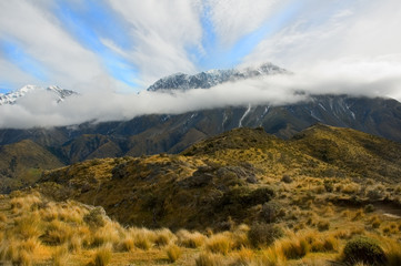 mountain panorama in new zealand