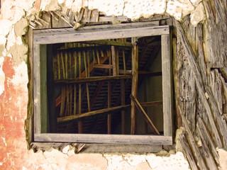 inside ruin