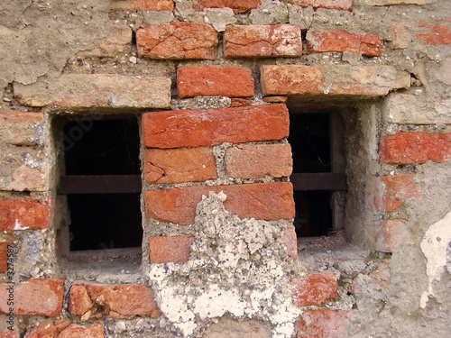 brick windows