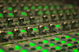 audio mixing console poster