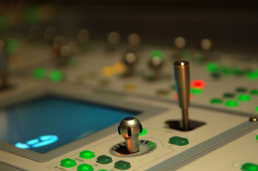 buttons on mixing console