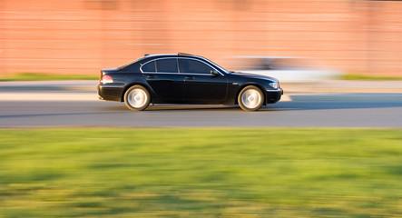 luxury bmw 7  car speed fast on blurred background