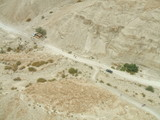 Road and mountain in Judean Desert in Israel poster