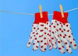 ladybug gardening gloves poster