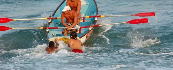 lifeguards rowing