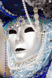 a man in costume at the venice carnival (2) poster