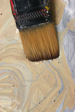 gold and silver paint and paintbrush poster