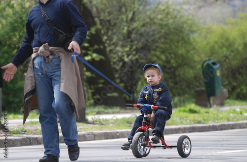 cute baby on bike
