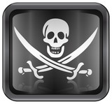 pirate icon. (with clipping path) poster