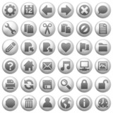 Fototapety round metal icons