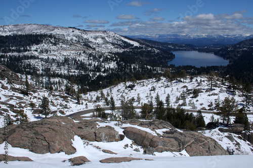 snow on the real donner pass