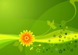 Fototapety summer flowers 02