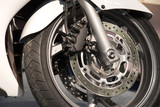 sport motorcycle wheel poster