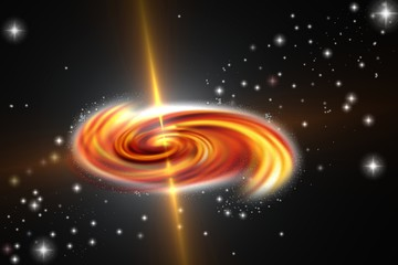 black hole in a galaxi