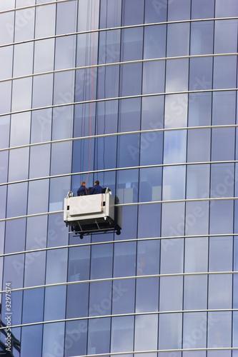 poster of skyscraper windows washers