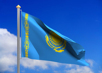 kazakhstan flag (include clipping path)