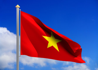 vietnam flag (include clipping path)