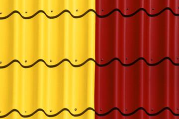 dach rot gelb