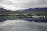 reflection in icelandic lake poster