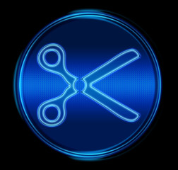 scissors icon. (with clipping path)