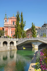 Old city centre of Ljubljana