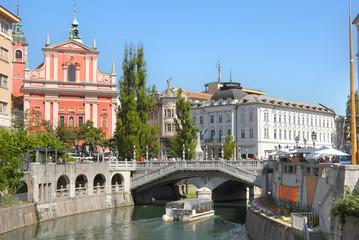 Old city centre of Ljubljana