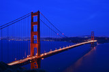 golden gate bridge and san francisco skyline poster