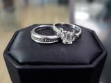 wedding ring & band - diamond & platinum 3 poster
