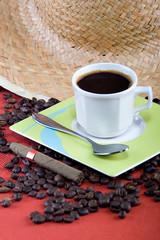 coffee and cigar