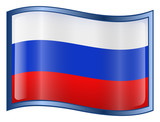 russia flag icon. (with clipping path) poster