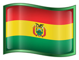 bolivia flag icon. (with clipping path) poster