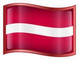 latvia flag icon. (with clipping path) poster
