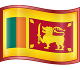 sri lanka flag icon. (with clipping path) poster