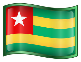 togo flag icon. (with clipping path)