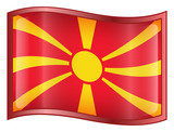 macedonia flag icon. (with clipping path) poster