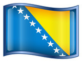 bosnia and herzegovina flag icon. poster