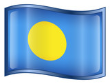 palau flag icon. (with clipping path) poster