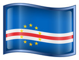 cape verde flag icon. (with clipping path) poster