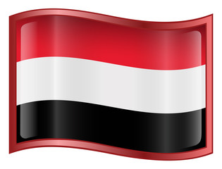 yemen flag icon. (with clipping path)