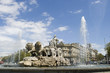 Leinwanddruck Bild - cibeles fountain at 45 degrees angle