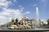 cibeles fountain at 45 degrees angle poster