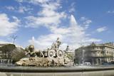 cibeles fountain at 60 degrees angle poster
