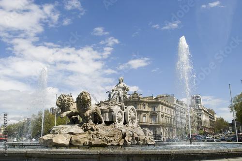 Leinwanddruck Bild cibeles fountain at 45 degrees angle