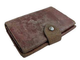 1234 - vieux portefeuille cuir (détourage inclus)