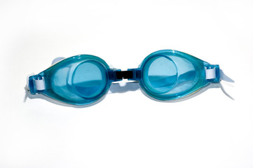 Goggles on White