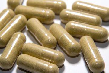 long beige capsules